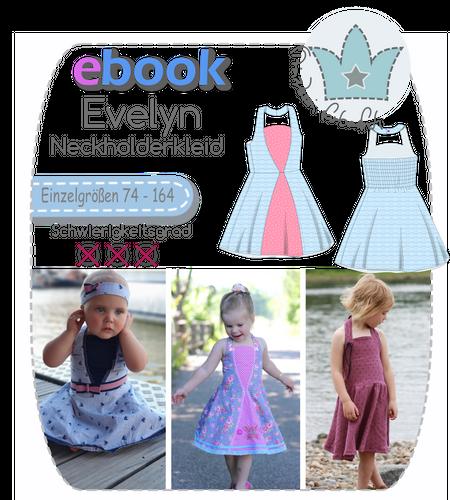 Produktfoto von prinzessin farbenfroh zum Nähen für Schnittmuster Evelyn