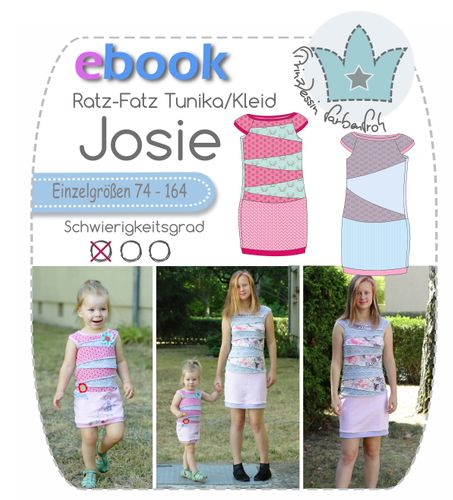 Produktfoto von prinzessin farbenfroh zum Nähen für Schnittmuster Josie