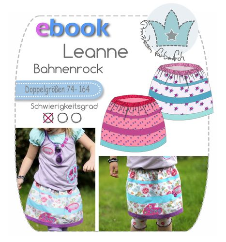 Produktfoto von prinzessin farbenfroh zum Nähen für Schnittmuster Leanne