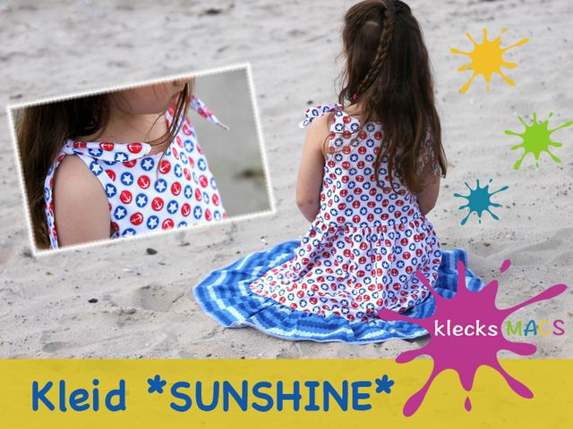Produktfoto von klecksMACS zum Nähen für Schnittmuster Sunshine