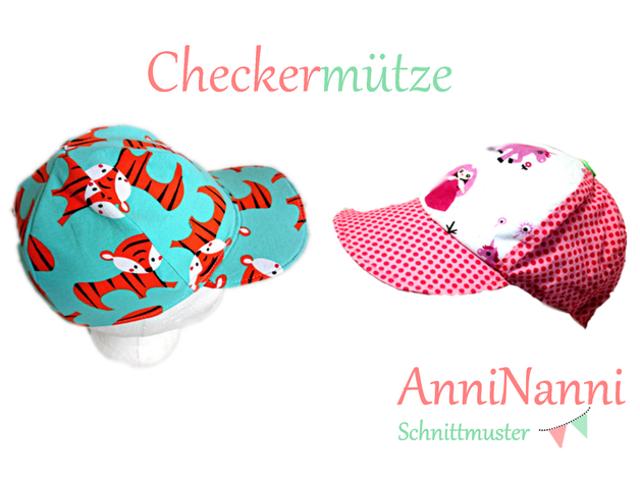 Produktfoto von Anni Nanni zum Nähen für Schnittmuster Checkermütze