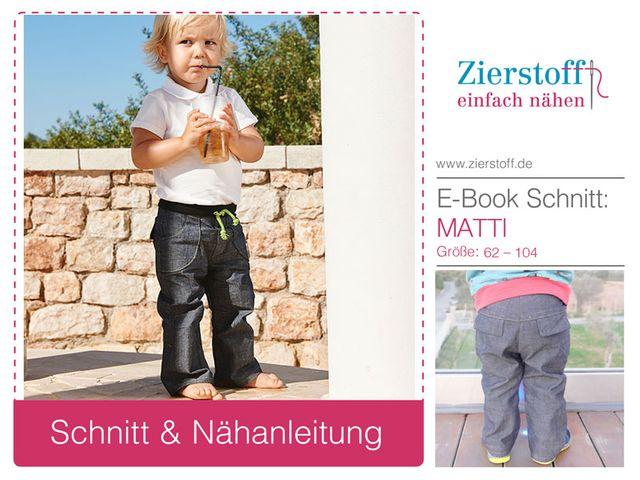 Produktfoto von Zierstoff zum Nähen für Schnittmuster Matti 62-104