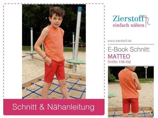 Produktfoto von Zierstoff zum Nähen für Schnittmuster Matteo 110-152