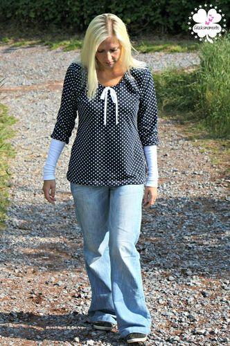 Produktfoto von MiToSa-Kreativ zum Nähen für Schnittmuster Bluse/Tunika/Kleid Miss Talia