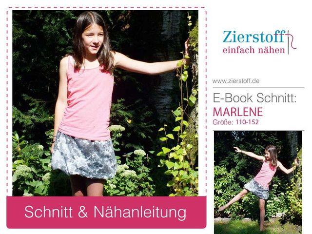 Produktfoto von Zierstoff zum Nähen für Schnittmuster Marlene 110-152