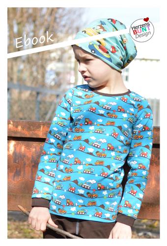 """Produktfoto von Herzensbunt Design zum Nähen für Schnittmuster Sunny Side Up - Basic Edition """"All-In-Shirt"""""""