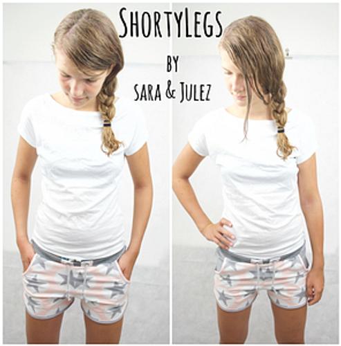 Produktfoto von Sara & Julez zum Nähen für Schnittmuster ShortyLegs