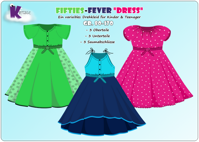 Produktfoto von KillerTasche zum Nähen für Schnittmuster Fifties-Fever Dress