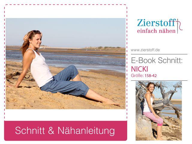 Produktfoto von Zierstoff zum Nähen für Schnittmuster Nicki 158-46