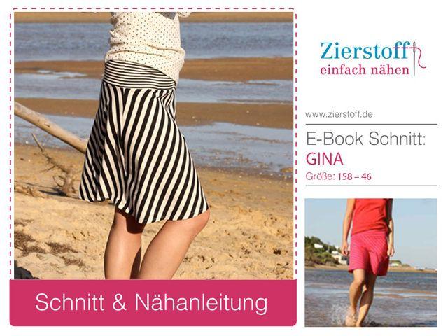Produktfoto von Zierstoff zum Nähen für Schnittmuster Gina 158-46