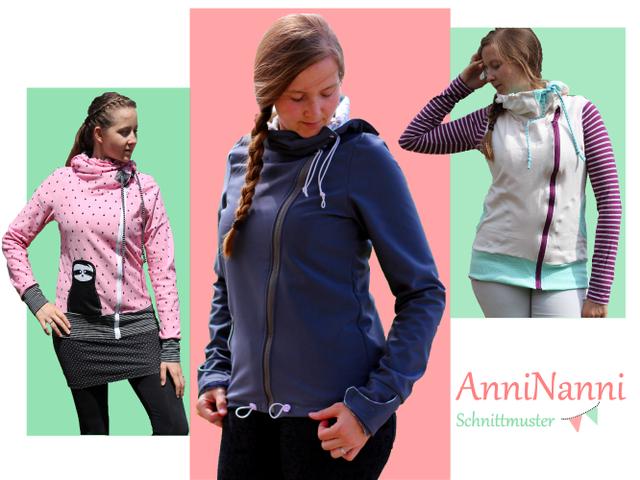 Produktfoto von Anni Nanni zum Nähen für Schnittmuster AnniNanni Jacke