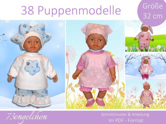 Produktfoto von 73engelchen zum Nähen für Schnittmuster Puppenkleidung 32cm