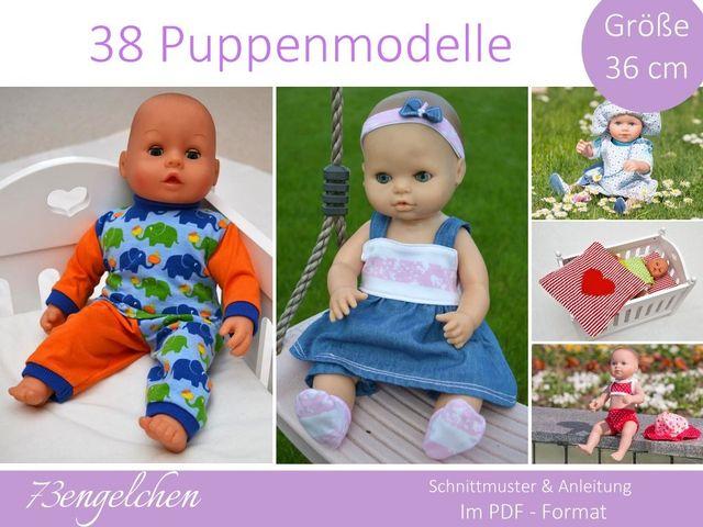 Produktfoto von 73engelchen zum Nähen für Schnittmuster Puppenkleidung 36cm