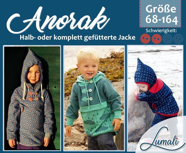 Produktfoto von Lumali zum Nähen für Schnittmuster Anorak