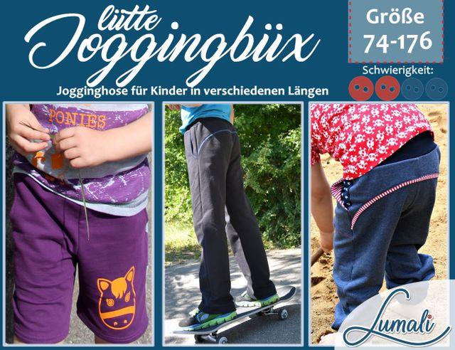 Produktfoto von Lumali zum Nähen für Schnittmuster Joggingbüx for Kids