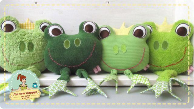 Produktfoto von I'm sew happy! zum Nähen für Schnittmuster Körnerkissen oder Spieluhr Frosch