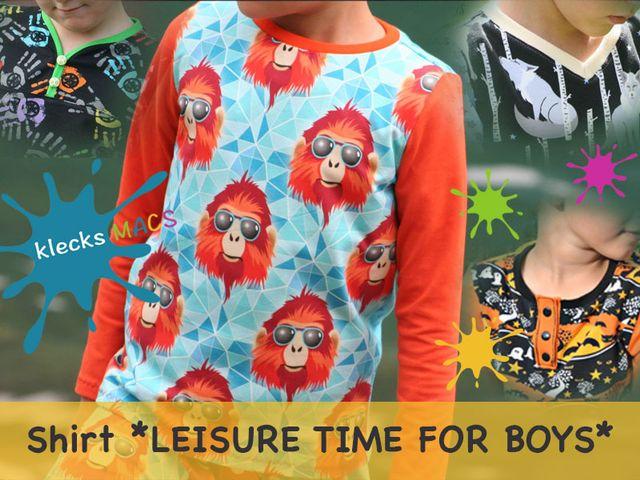 Produktfoto von klecksMACS zum Nähen für Schnittmuster Leisure Time for Boys
