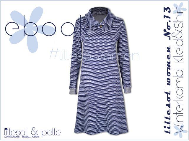 Produktfoto von Lillesol & Pelle zum Nähen für Schnittmuster Lillesol women No.13 Winterkombi Kleid & Shirt