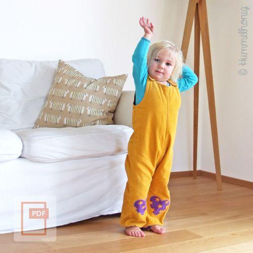 Produktfoto von Hummelhonig zum Nähen für Schnittmuster Bär - Latzhose