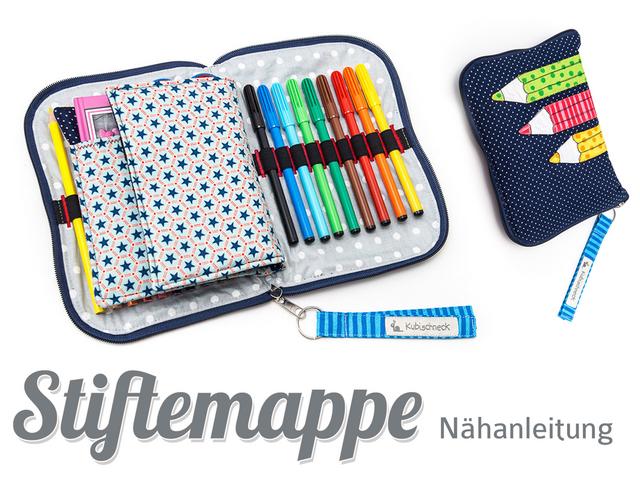 Produktfoto von Kubischneck zum Nähen für Schnittmuster Stiftemappe