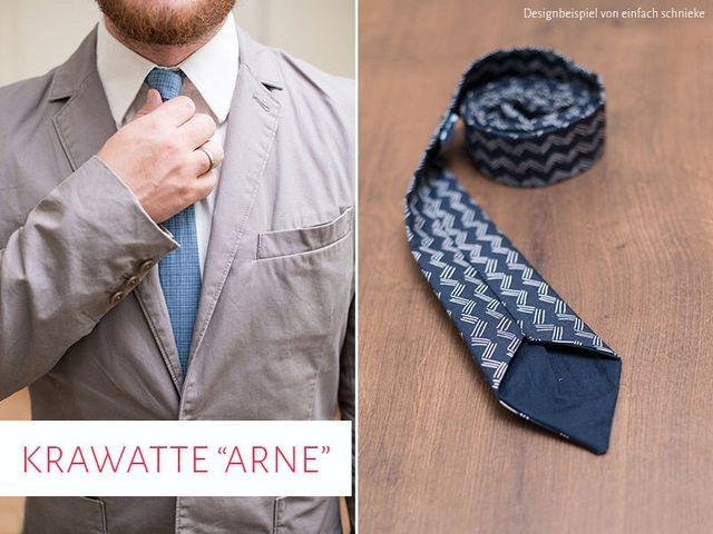 Produktfoto von kreativlabor Berlin zum Nähen für Schnittmuster Krawatte Arne
