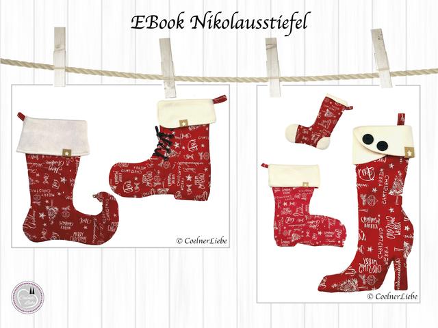 Produktfoto von CoelnerLiebe zum Nähen für Schnittmuster Nikolausstiefel