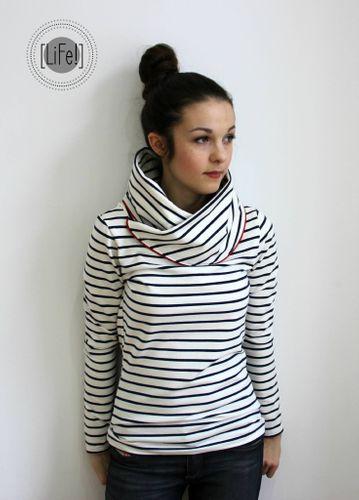 Produktfoto von Print4Kids zum Nähen für Schnittmuster Liebelein Kragenshirt