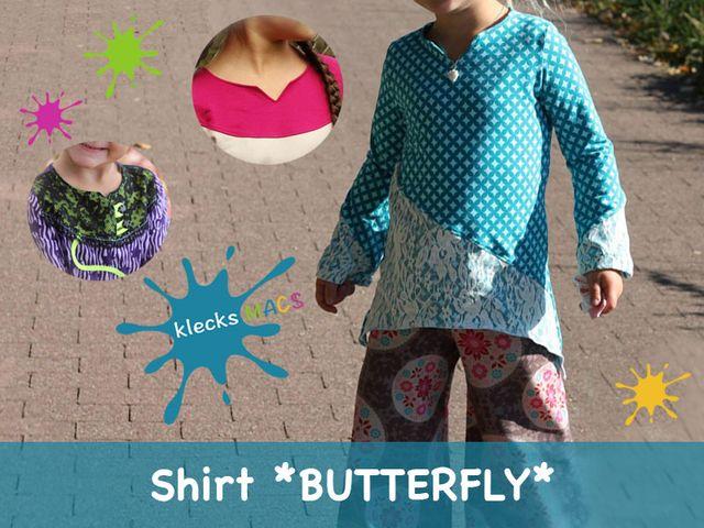 Produktfoto von klecksMACS zum Nähen für Schnittmuster Butterfly