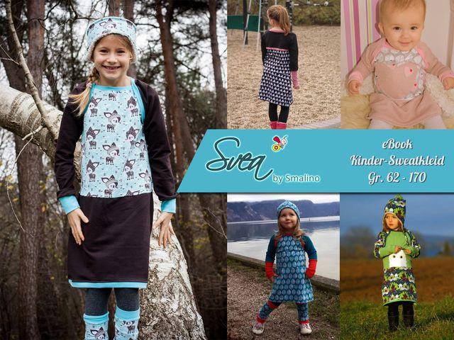 Produktfoto von Smalino zum Nähen für Schnittmuster Kinder-Sweatkleid Svea