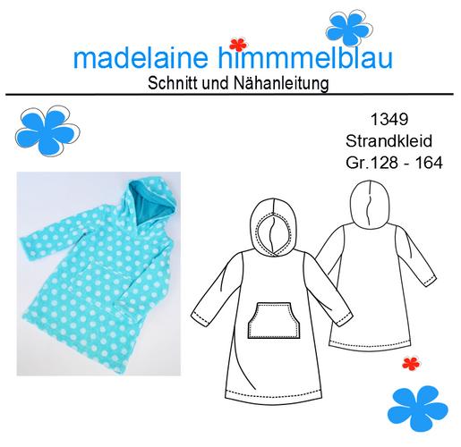 Produktfoto von madelaine himmmelblau zum Nähen für Schnittmuster 1349 Strandkleid