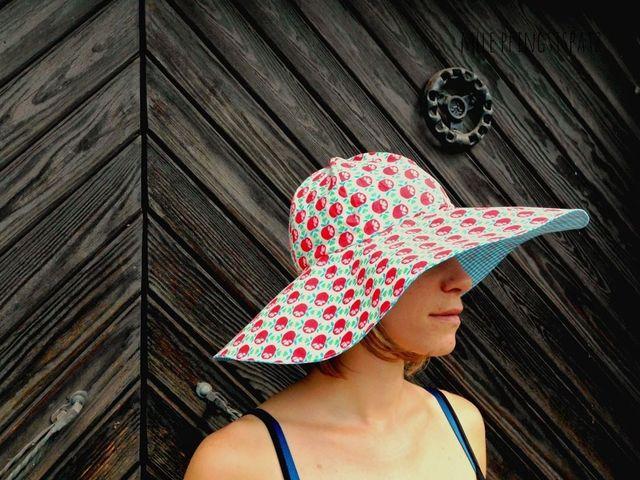 Produktfoto von Mademoiselle Pfingstspatz zum Nähen für Schnittmuster SommerSonnenRegenHut Trudi