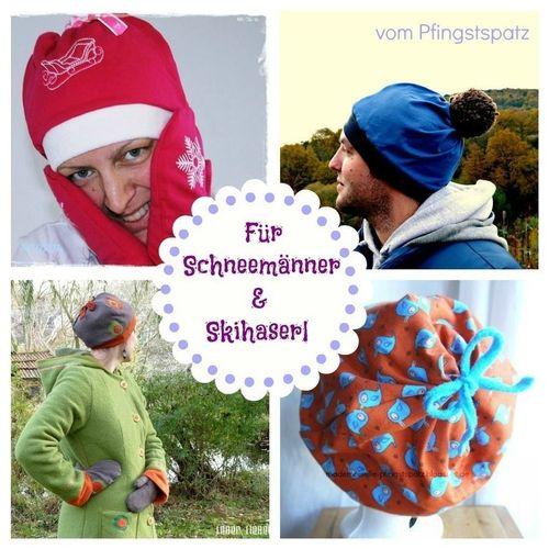 Produktfoto von Mademoiselle Pfingstspatz zum Nähen für Schnittmuster Für Schneemänner & Skihaserl