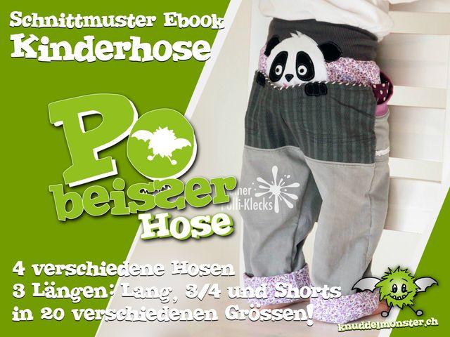 Produktfoto von Knuddelmonster zum Nähen für Schnittmuster Pobeisser Hose