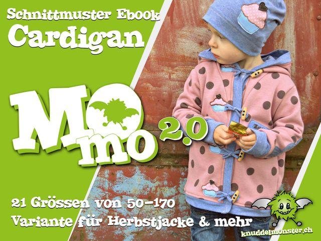 Produktfoto von Knuddelmonster zum Nähen für Schnittmuster Cardigan Momo 2.0