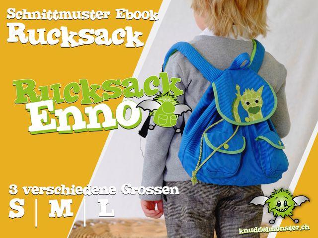 Produktfoto von Knuddelmonster zum Nähen für Schnittmuster Rucksack Enno