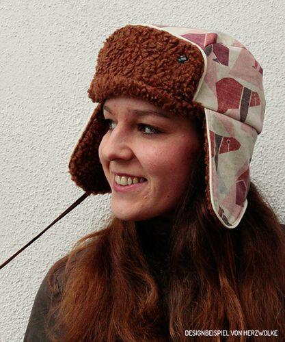 Produktfoto von kreativlabor Berlin zum Nähen für Schnittmuster Fliegermütze Mischa