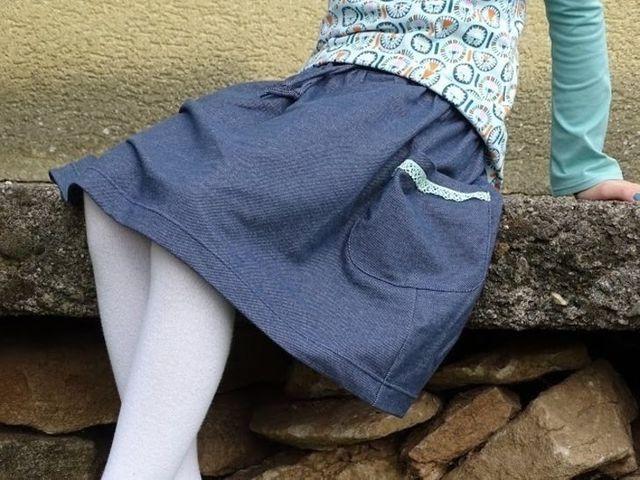 Produktfoto von Fabelwald zum Nähen für Schnittmuster 4-Jahreszeiten Rock INKA