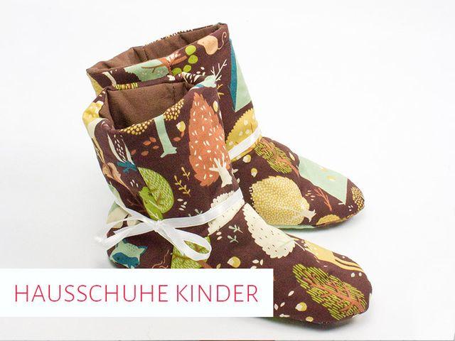 Produktfoto von kreativlabor Berlin zum Nähen für Schnittmuster Kinder-Hausschuhe Gunilla