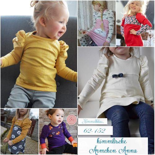 Produktfoto von Himmelblau. zum Nähen für Schnittmuster Himmlische Ärmchen Anna