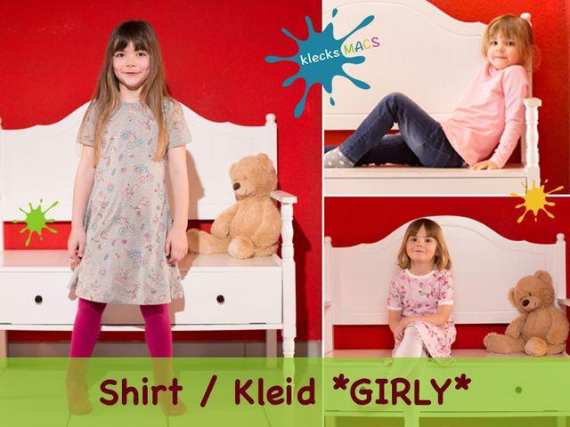 Produktfoto von klecksMACS zum Nähen für Schnittmuster Girly