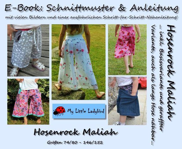 Produktfoto von My Little Ladybird zum Nähen für Schnittmuster Hosenrock Maliah
