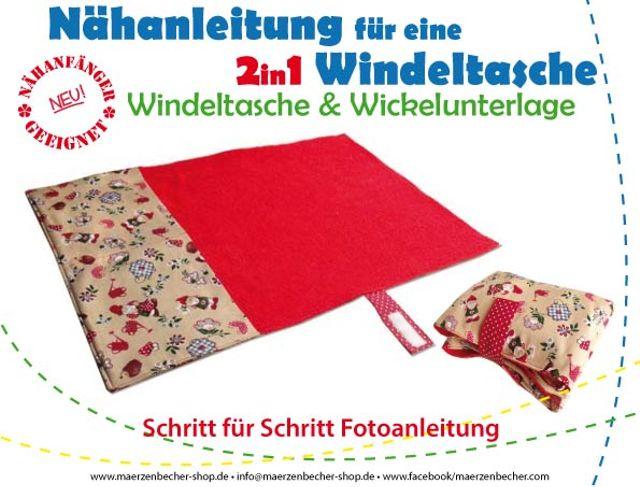 Produktfoto von Märzenbecher zum Nähen für Schnittmuster 2in1 Windeltasche & Wickelunterlage
