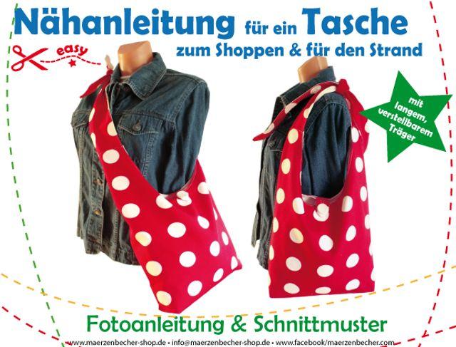 Produktfoto von Märzenbecher zum Nähen für Schnittmuster Tasche zum Shoppen & für den Strand