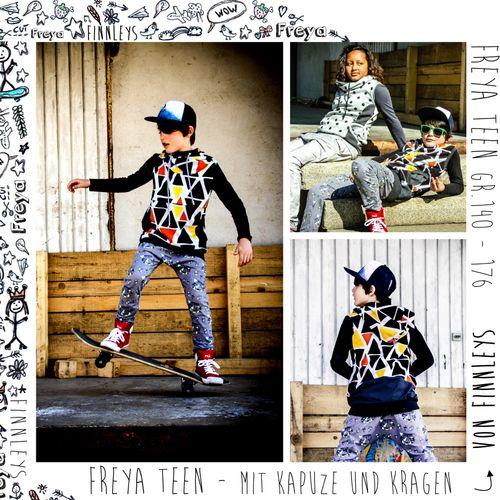 Produktfoto von Finnleys zum Nähen für Schnittmuster Freya - TEEN