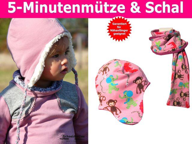 Produktfoto von Trash Monstarz zum Nähen für Schnittmuster 5-Minutenmütze & Schal