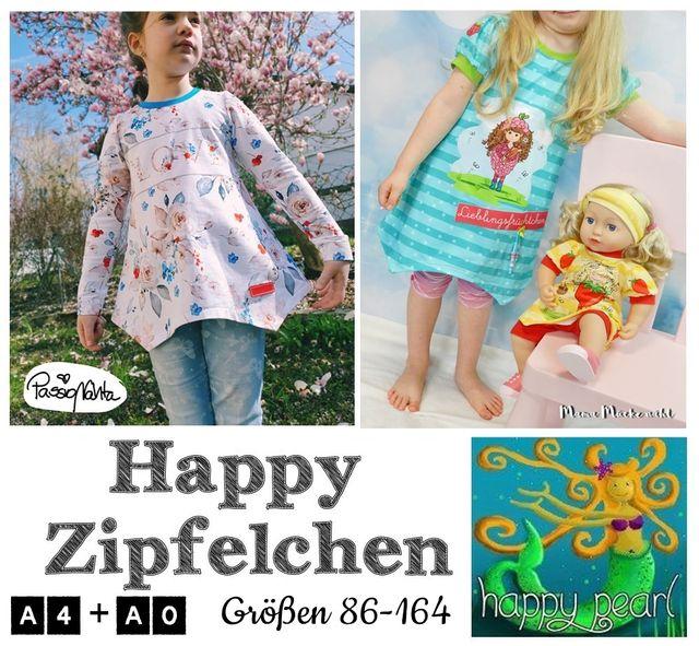 Produktfoto von Happy Pearl zum Nähen für Schnittmuster Happy Zipfelchen