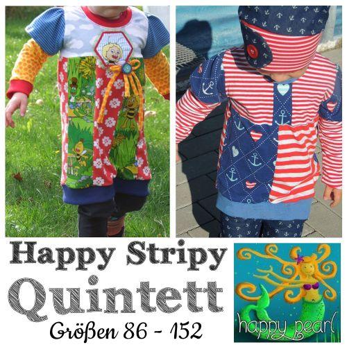 Schnittmuster Happy Stripy Quintett von Happy Pearl