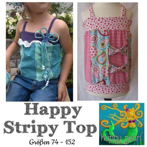 Produktfoto von Happy Pearl zum Nähen für Schnittmuster Happy Stripy Top