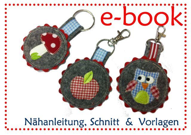 Produktfoto von kleinerspatz zum Nähen für Schnittmuster Anhänger Eule und Pilz