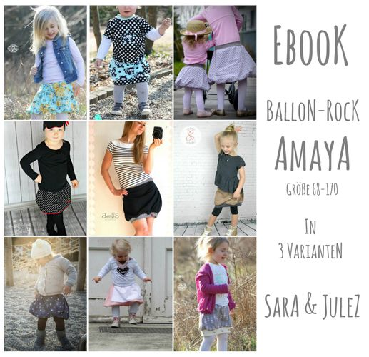 Produktfoto von Sara & Julez zum Nähen für Schnittmuster Ballonrock Amaya